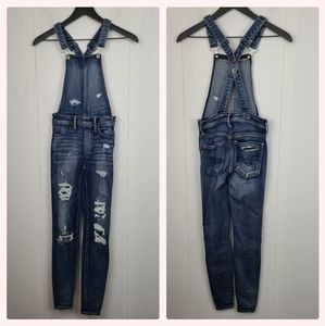 AEO Super Stretch X Distressed Jegging Overall 00S